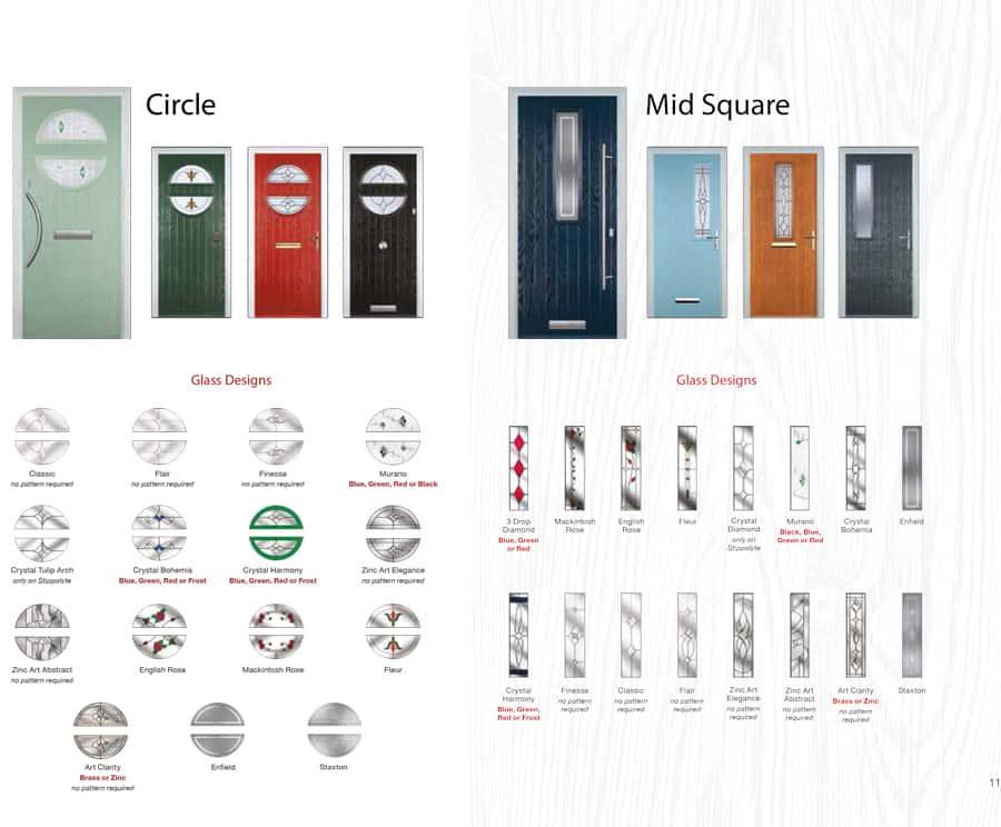 circle glass design door