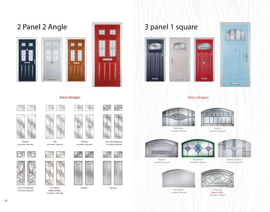2 panel composite door
