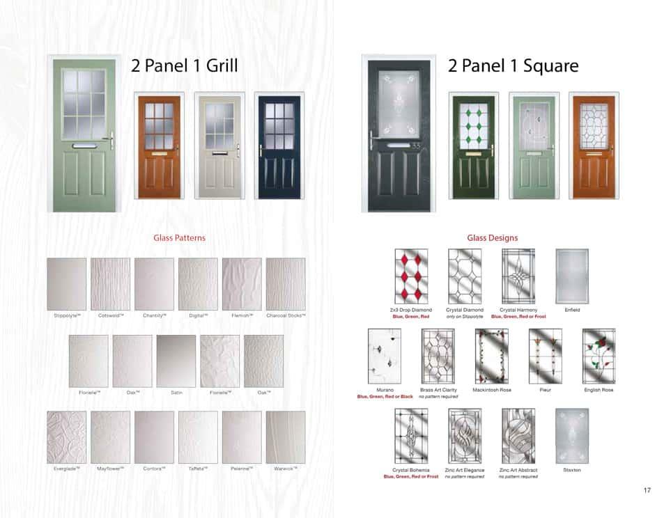 2 panel composite doors