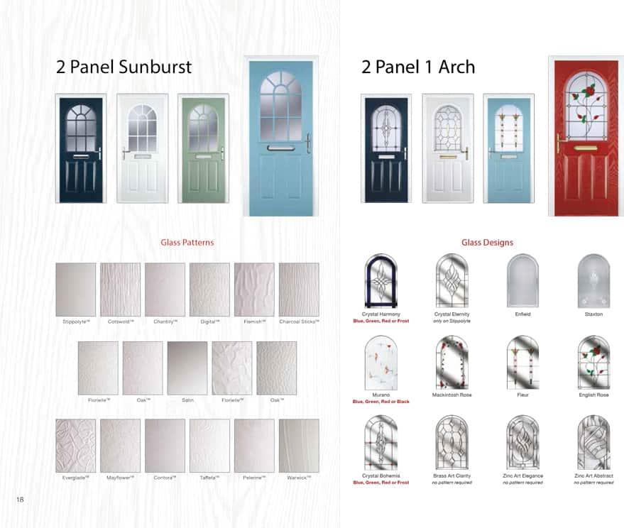 panel sunburst composite doors