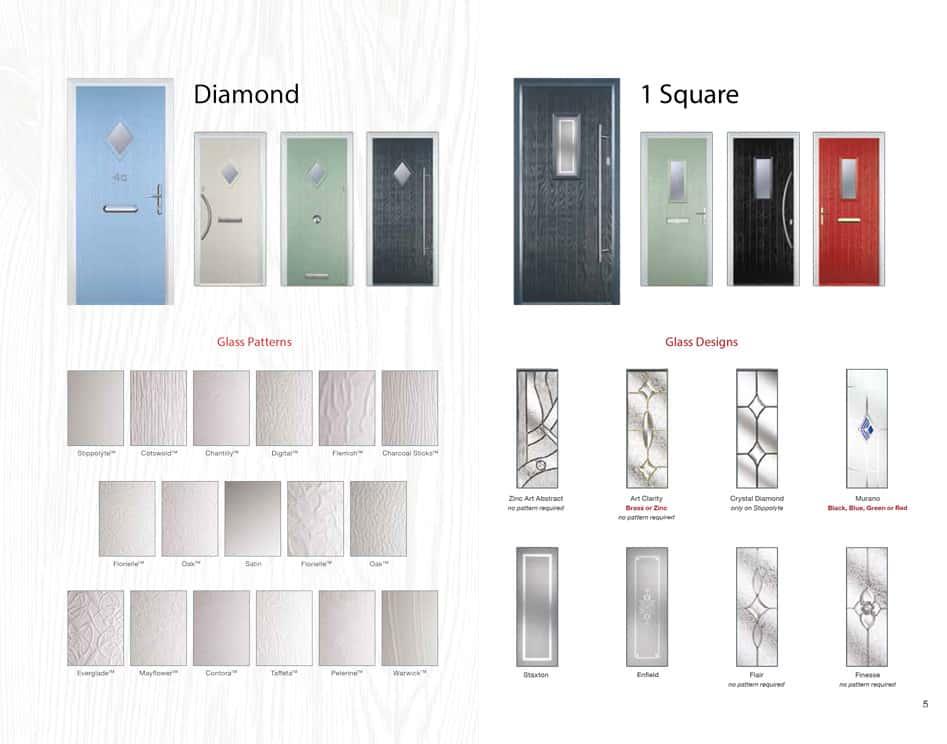 1 diamond glass door