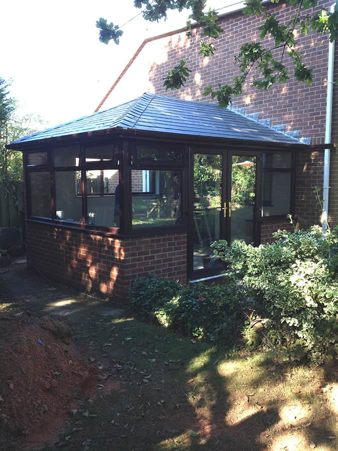 re-designed conservatory