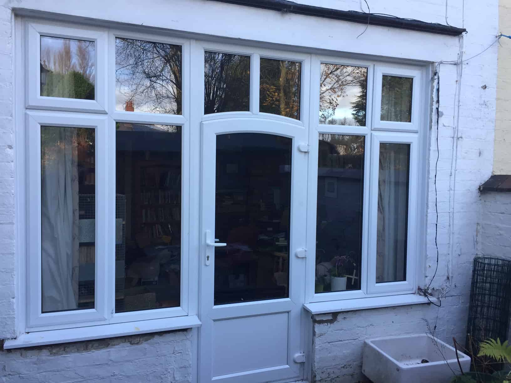 new white UPVC windows and door