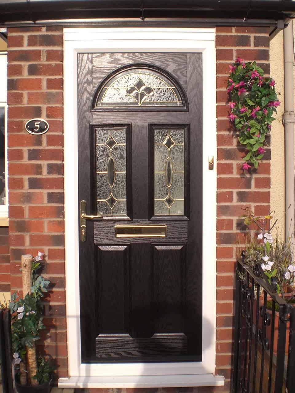 stunning black 2 panel composite door