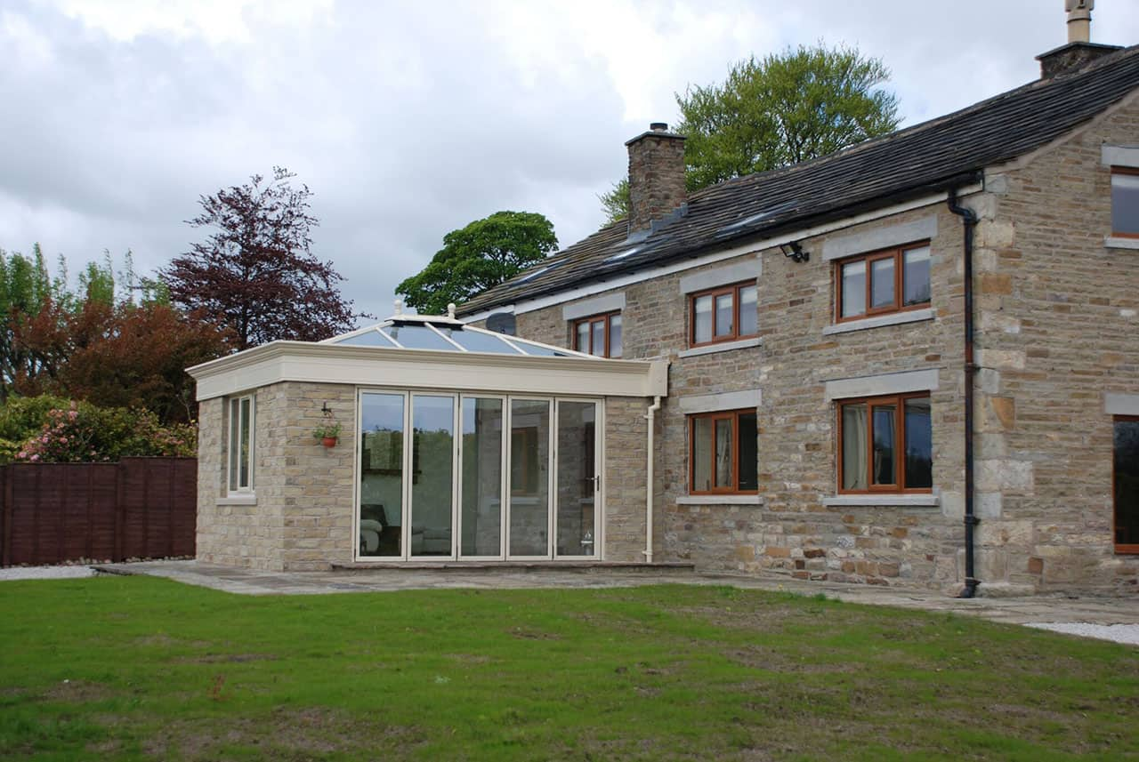 cream UPVC conservatory