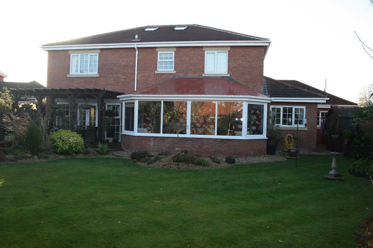 white framed conservatory