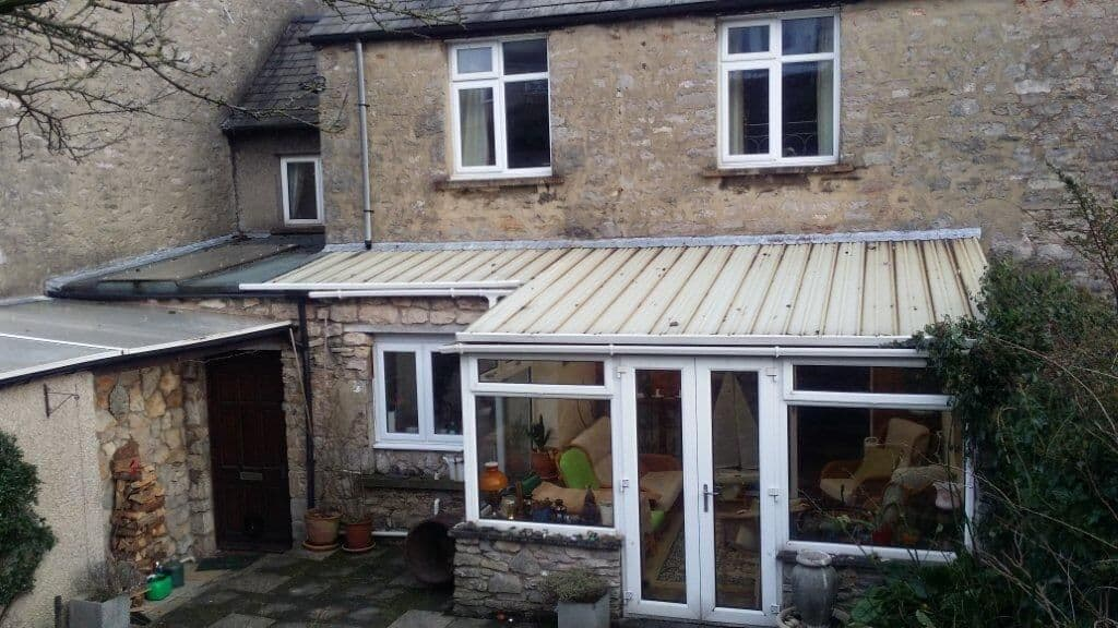 before the warm roof is fitted