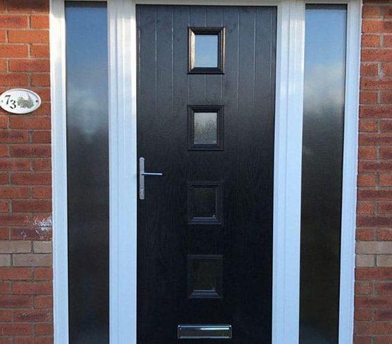 Black composite doors lancashire