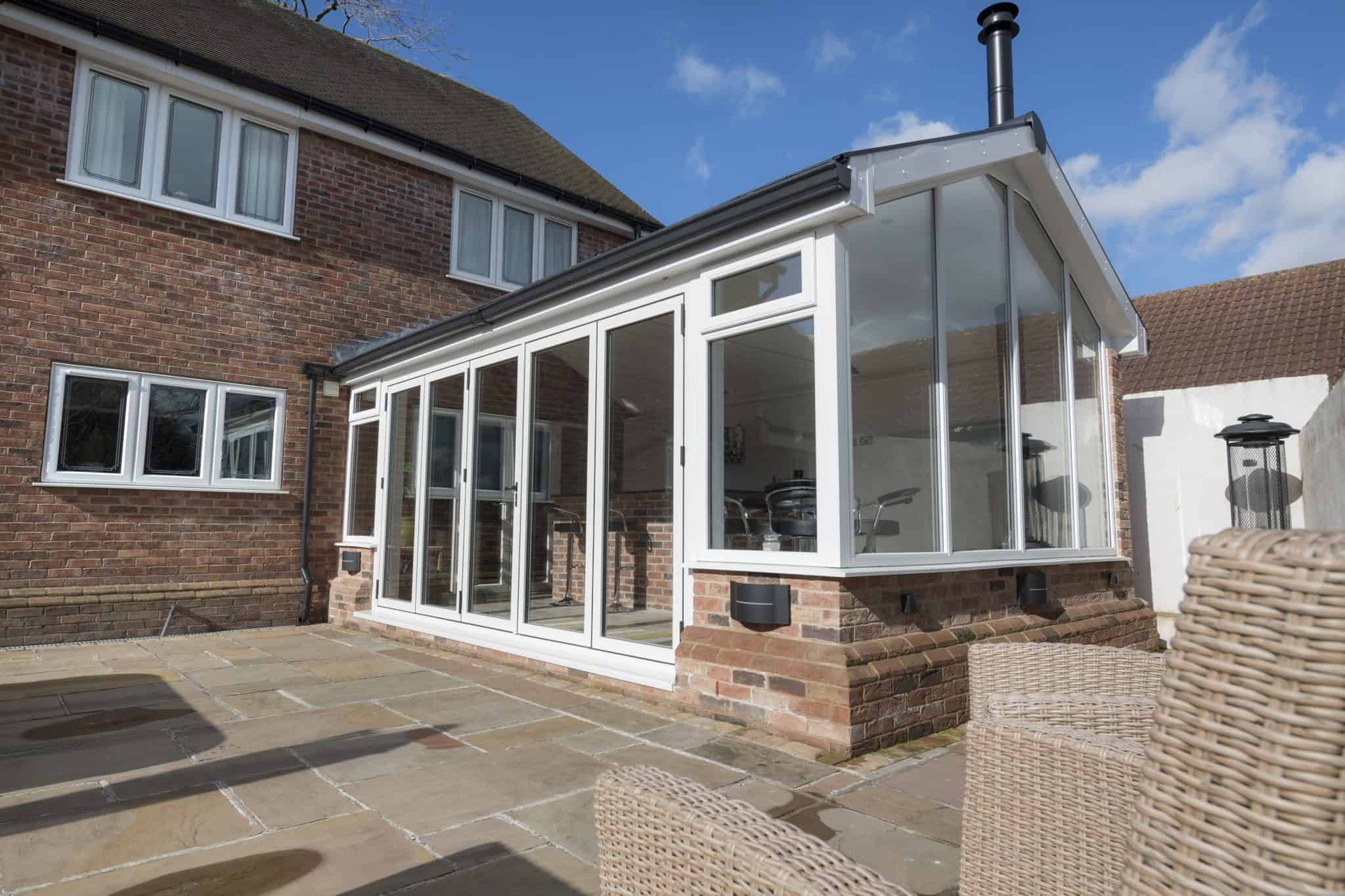 bi-fold doors on extension