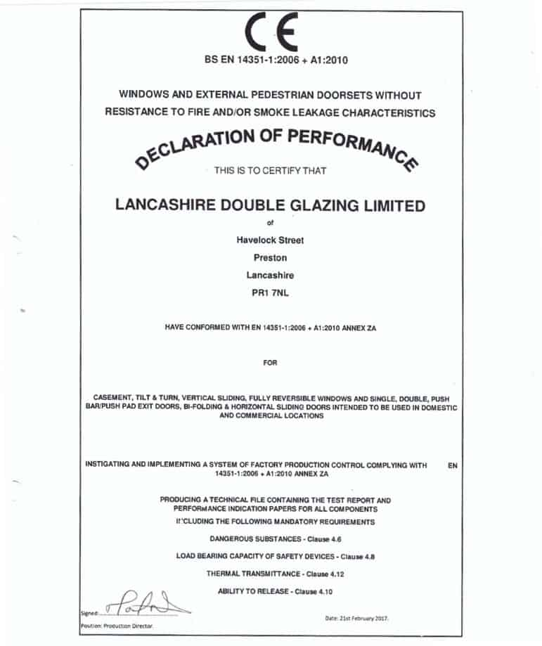 LDG Declaration of performance