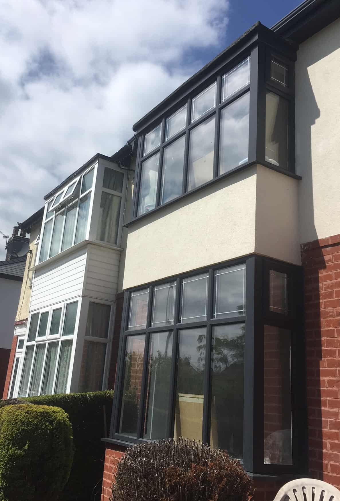 long UPVC front windows