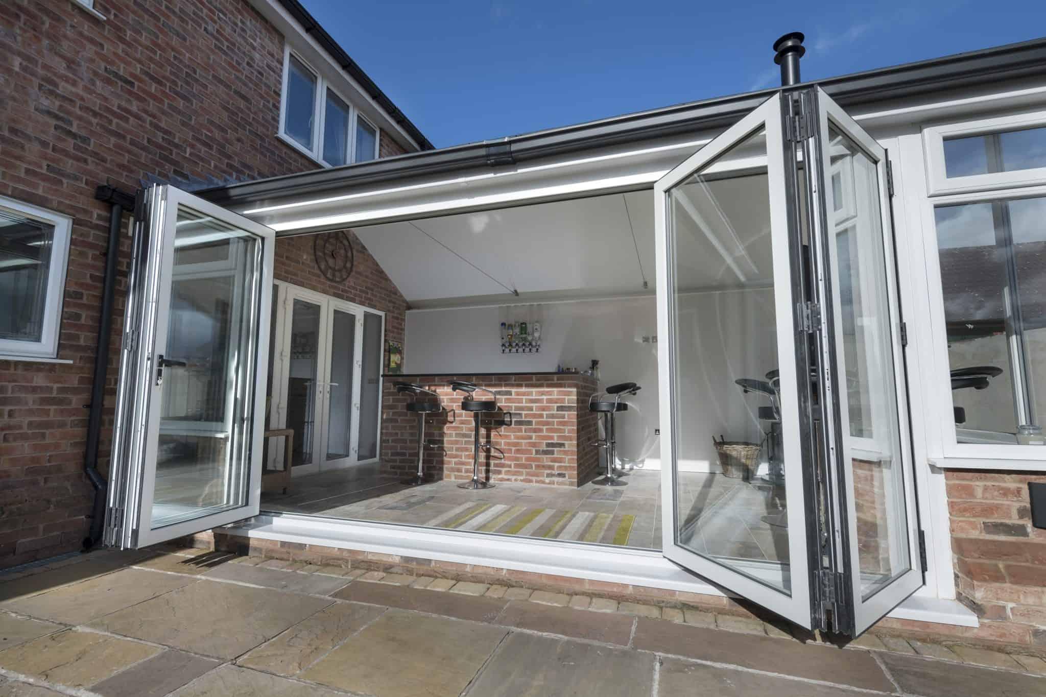 bi-fold doors on extension