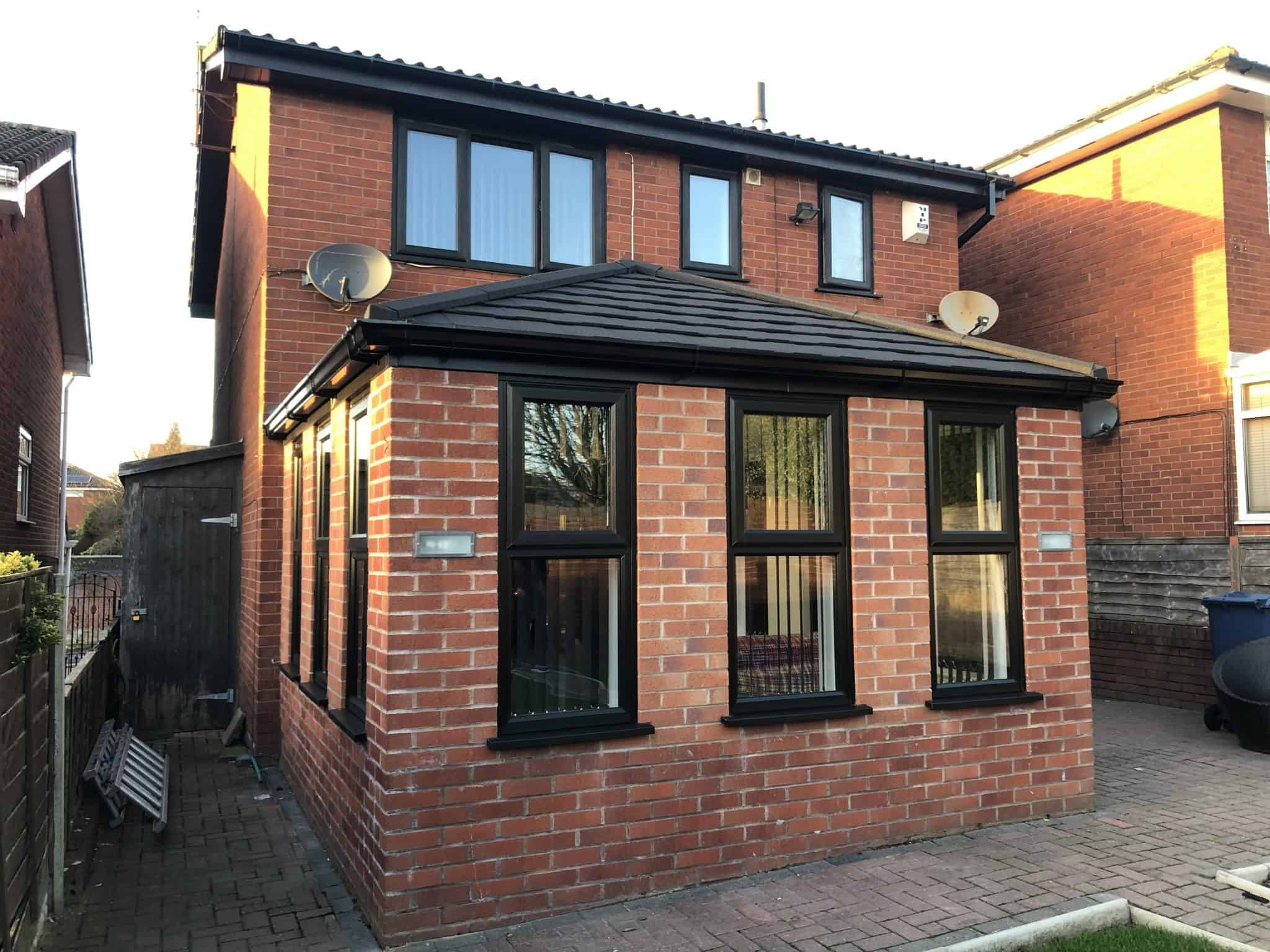 black UPVC extension