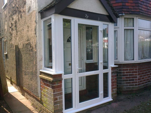 porch extension glass panel