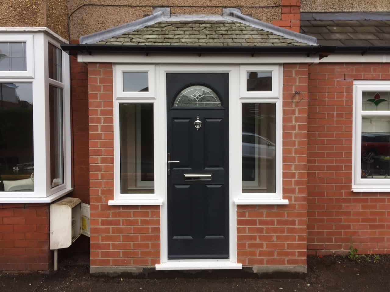 4 panel sunburst with porch extension