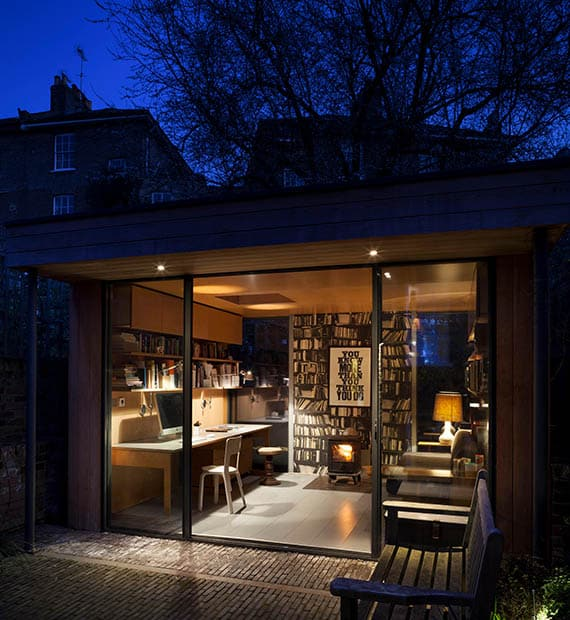 Garden Office Pod Evening